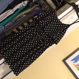 Elle polka dot black dress